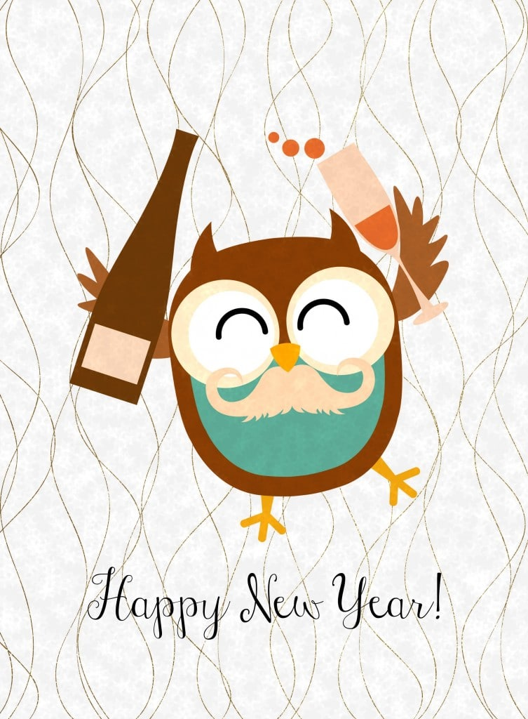 Selective image intended for happy new year printable