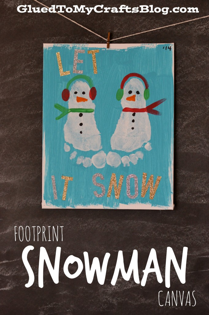 Christmas Ideas To Paint On Canvas With Kids With Hands