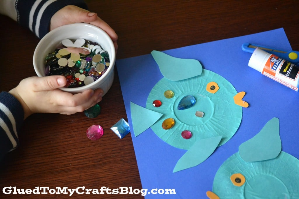 Yellow Rainbow Fish Cupcake Liner Rainbow Fish