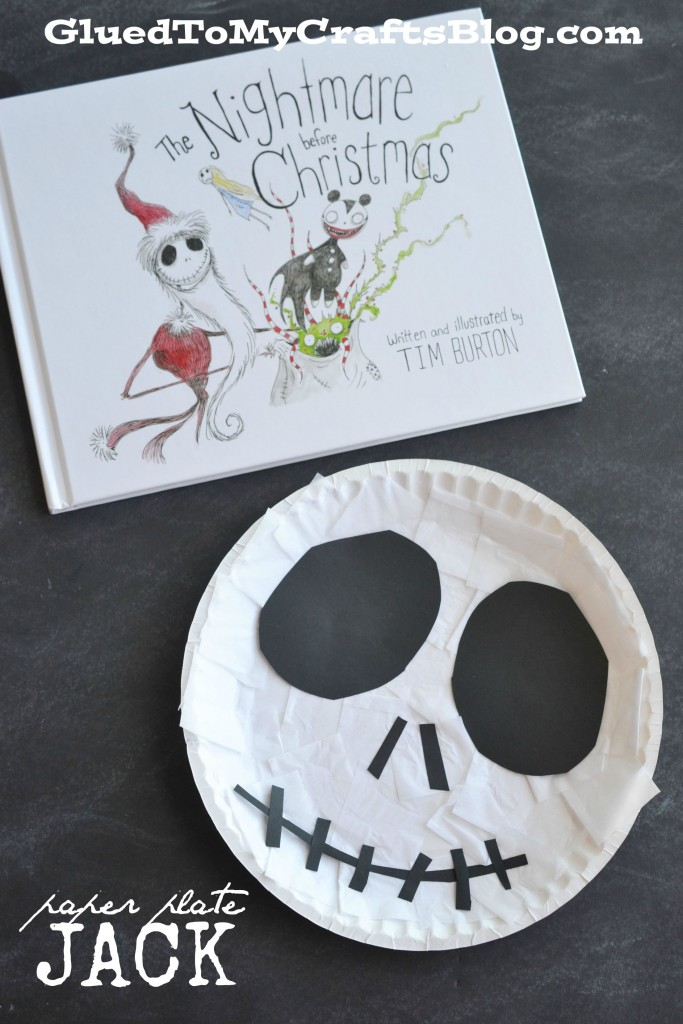 The Nightmare Before Christmas – Paper Plate Jack Kid Craft