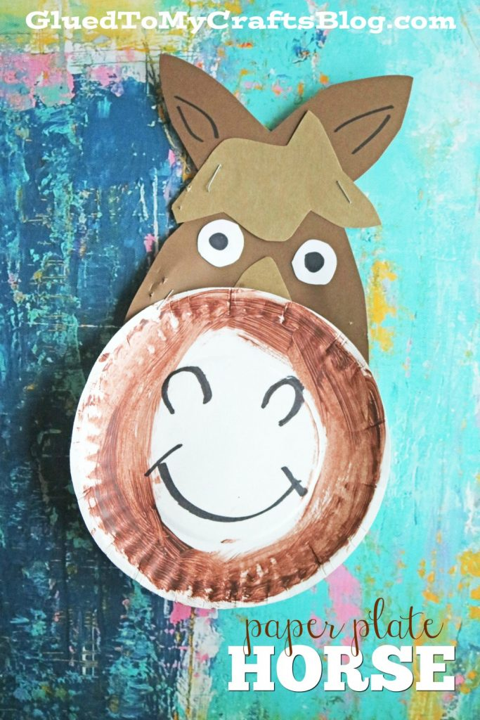 Paper Plate Horse Kid Craft