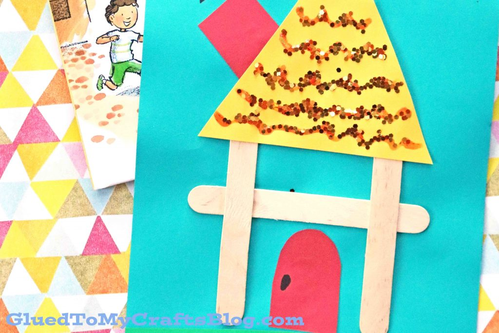 "Popsicle Stick ""H"" Is For House - Kid Craft"