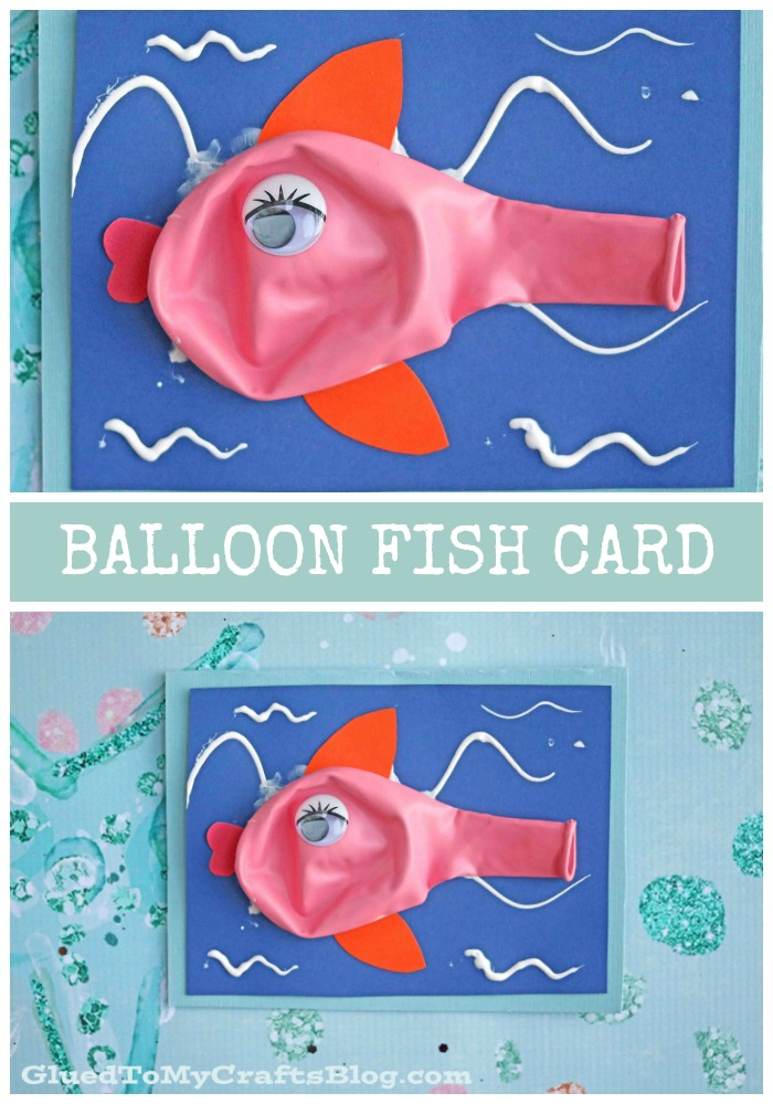 Balloon Fish Card For Kids To Make