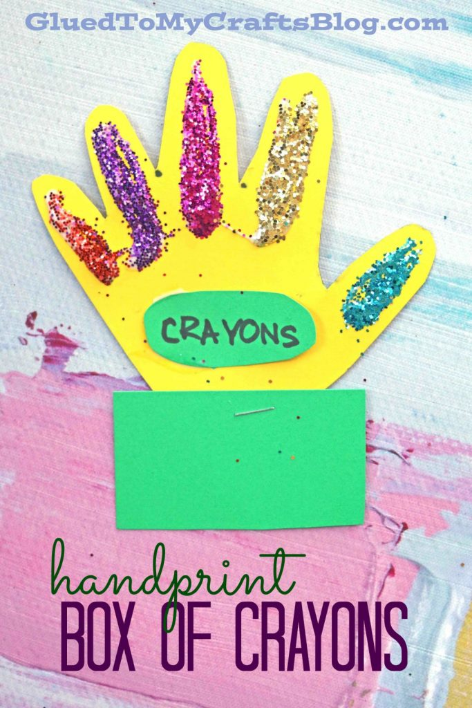 Handprint Box Of Crayons - Kid Craft