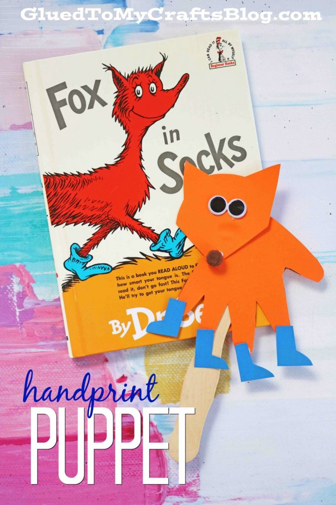Paper Handprint Fox In Socks - Kid Craft Puppet