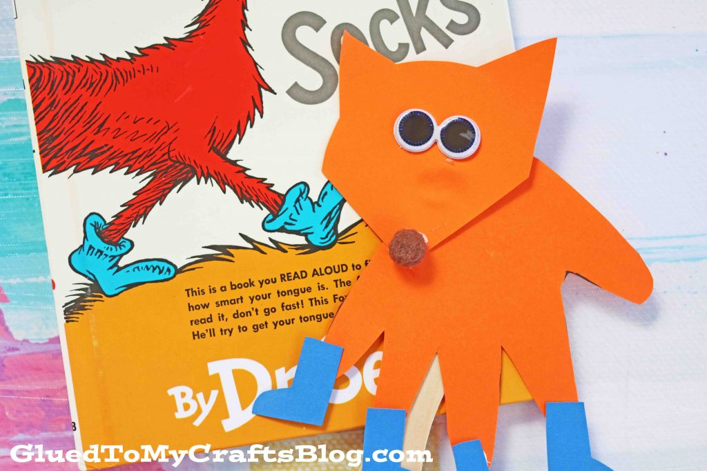 Handprint Fox In Socks Kid Craft Puppet