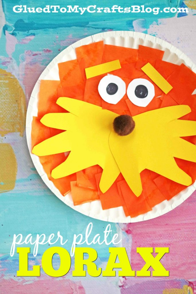 Paper Plate Lorax - Kid Craft