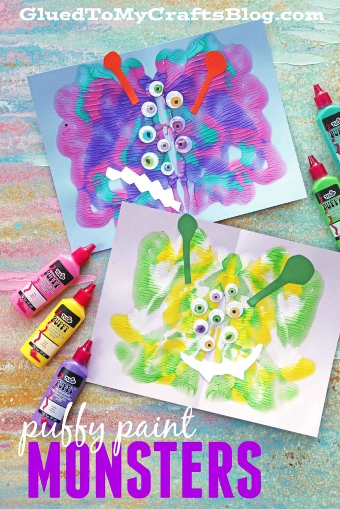 Puffy Paint Splat Monsters - Kid Craft