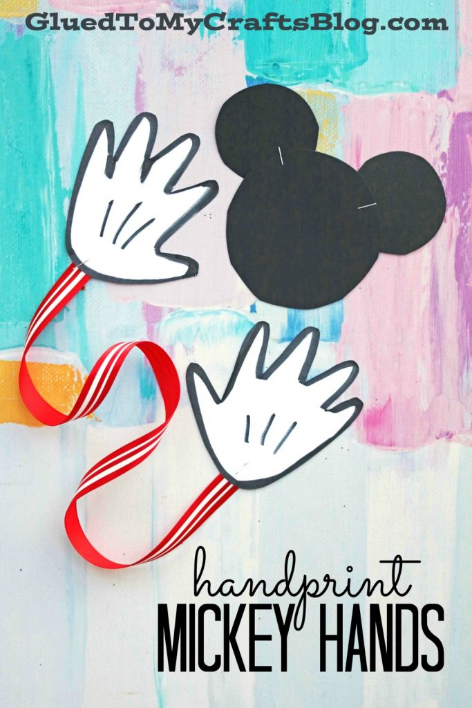 Handprint Mickey Hands - Send A Disney Hug