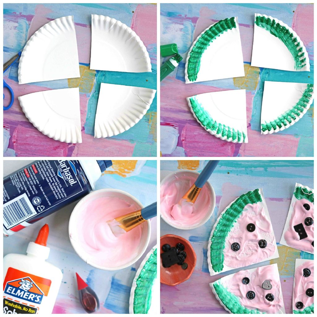 Puffy Paint Watermelon Slices - Kid Craft