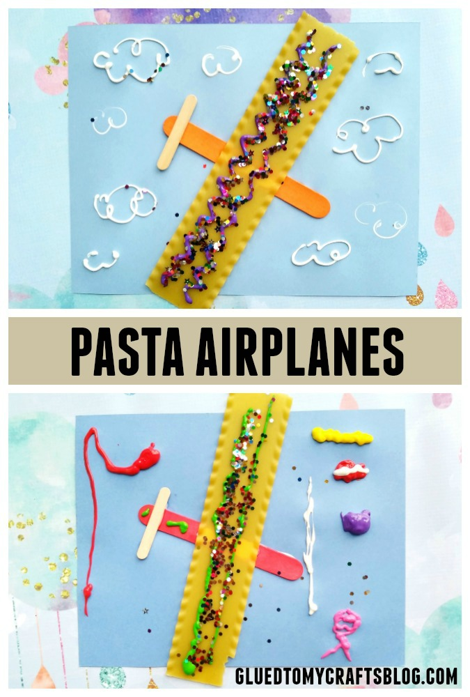 Paper & Dry Pasta Airplanes - Unique Kid Craft Idea
