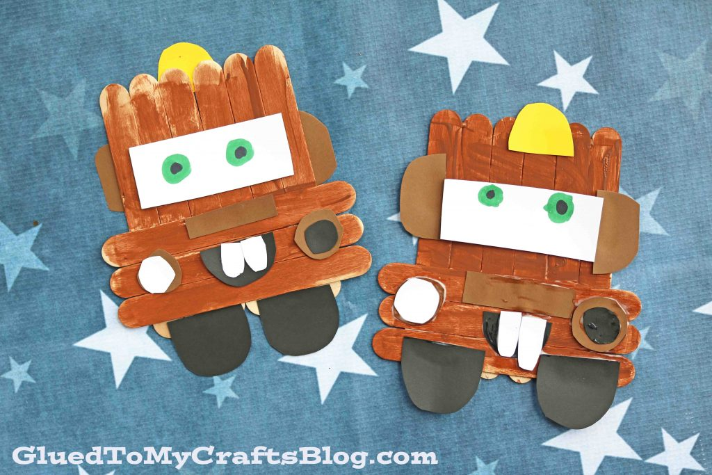 Popsicle Stick Mater - Cars Kid Craft Idea